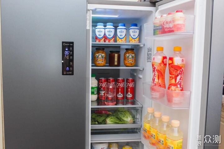 容声452十字对开门冰箱:颜值与实力双在线_新浪众测