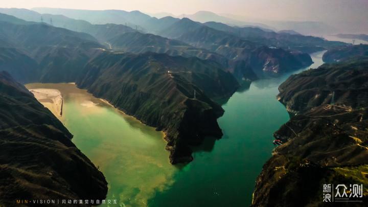 """洮河与黄河交汇,形成""""二龙戏珠""""流向刘家峡_新浪众测"""