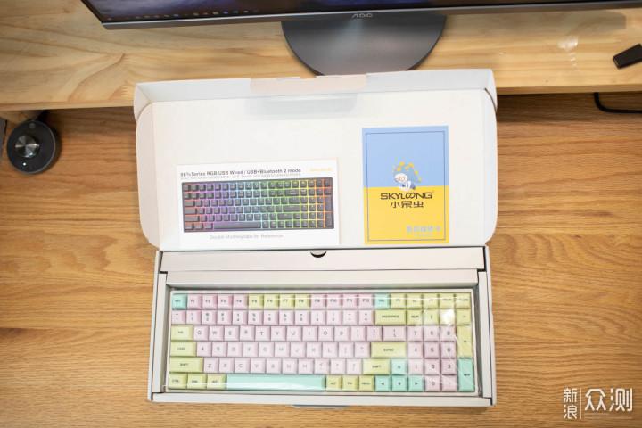 纷歧样的手感,小呆虫硅胶键帽SK96S双模键盘_新浪众测