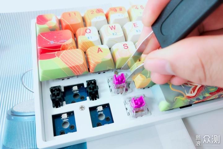 新贵GM680双模机械键盘评测:热插拔轴座_新浪众测