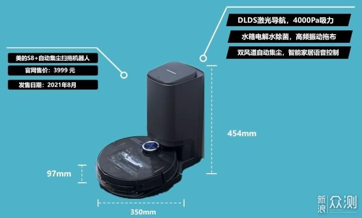 自动集尘扫拖机的新方向,美的S8+扫拖机器人_新浪众测