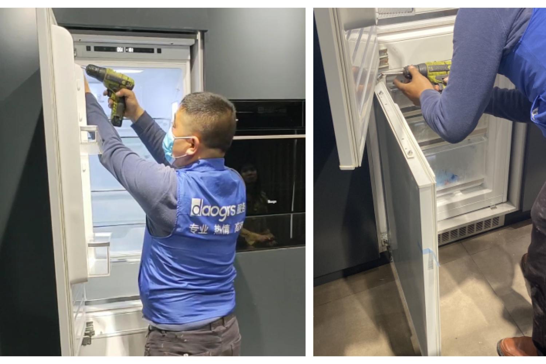 实拍:意大利daogrs k3嵌入式冰箱安装大揭秘