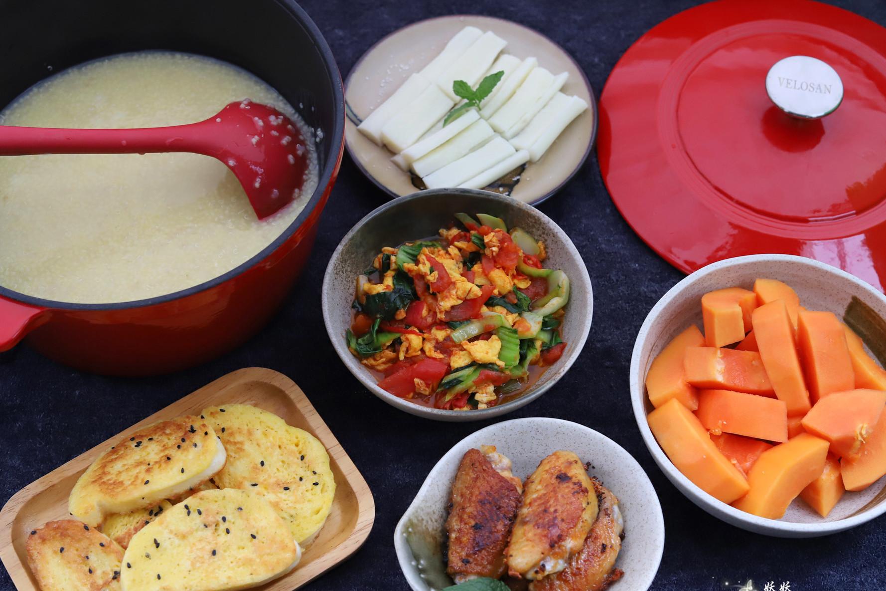 丰盛营养的中式早餐,吃着管饱又解馋