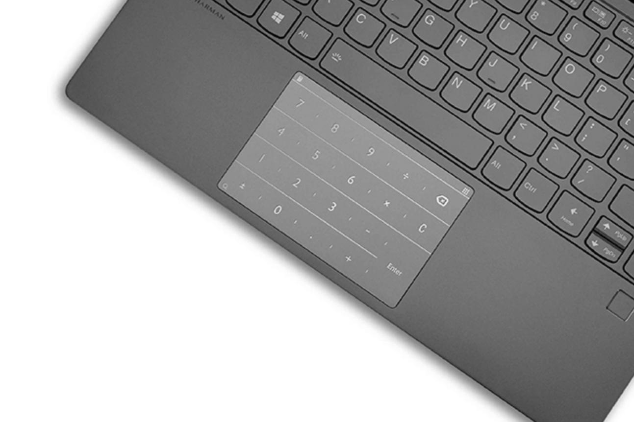 贴上联想小新智能键盘R1 触控板变数字小键盘