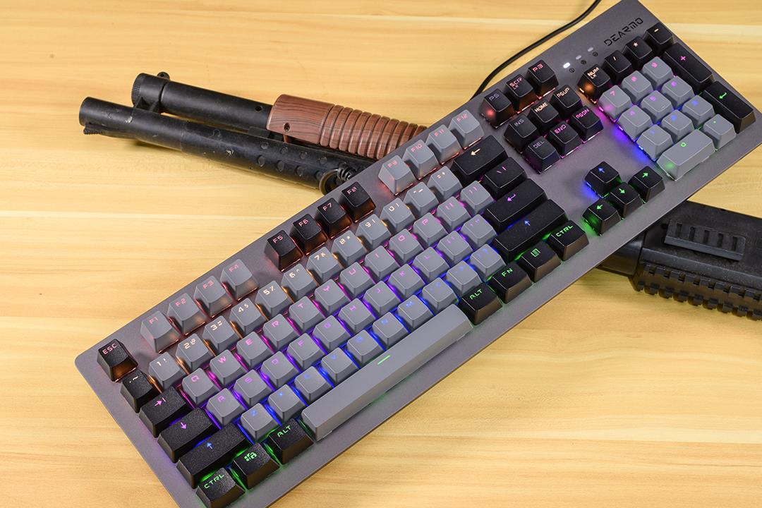 不卡键,防水防尘,快速入手迪摩F20机械键盘