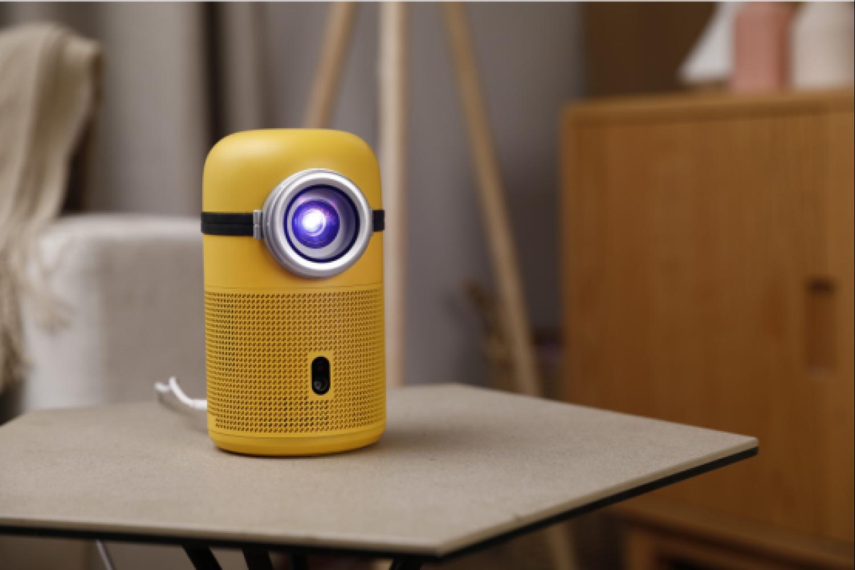 一个超萌的护眼便携小黄人投影仪H1