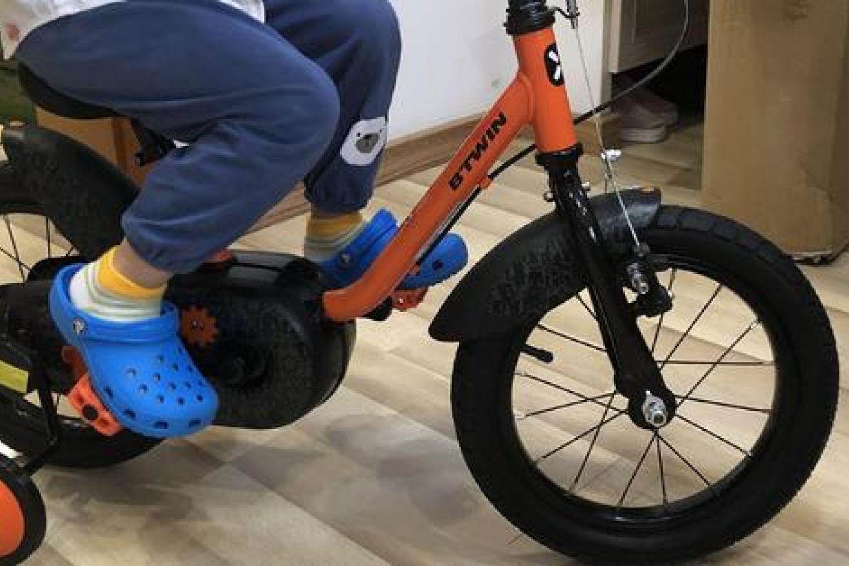 迪卡侬14寸btwin机器人罗伯特款儿童自行车