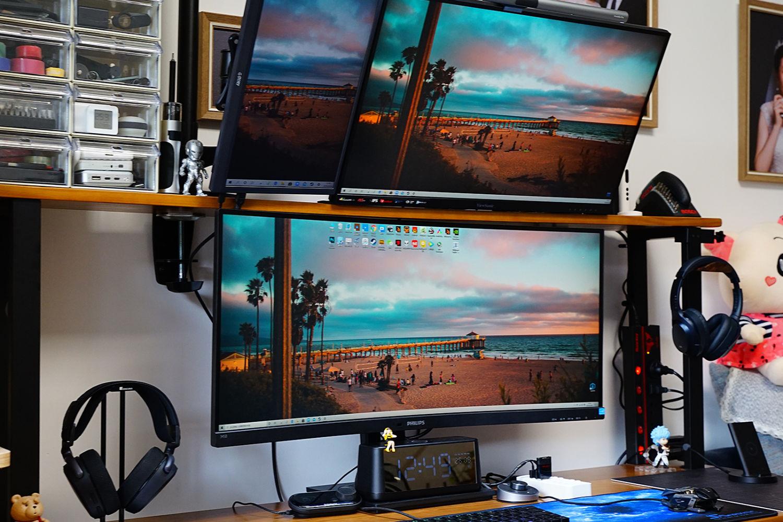 #双11晒单#1.5m桌面的多屏布置,分享数码好物