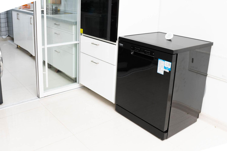 海尔洗碗机CN13体验,自动开门烘干,80℃除菌