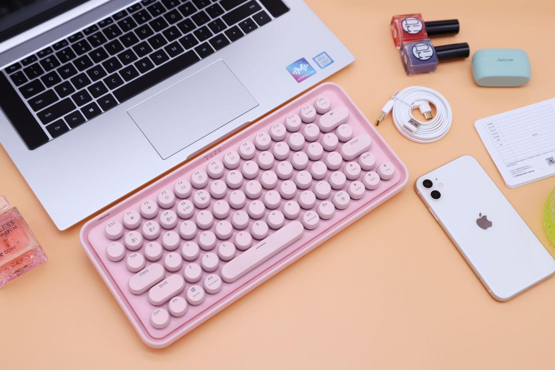 情人节好礼,粉色雷柏ralemo Pre 5机械键盘
