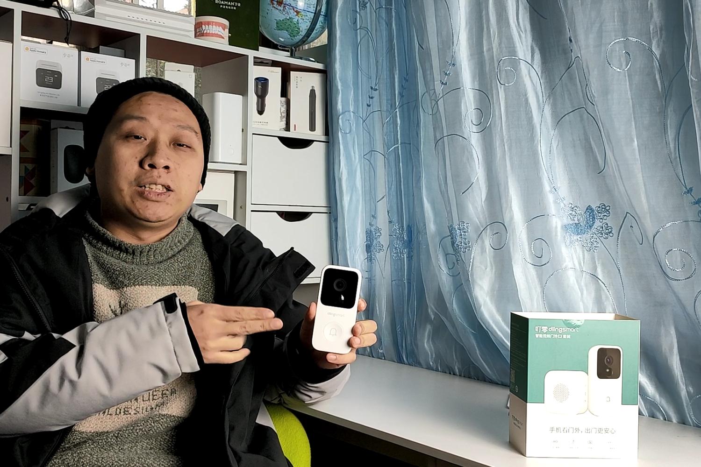 叮零智能视频门铃,手机远程监控人体移动侦测