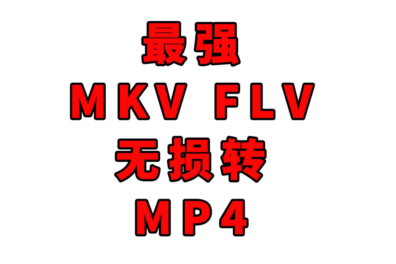 #波导的效率私房# 10 最强MKV,FLV转MP4方法