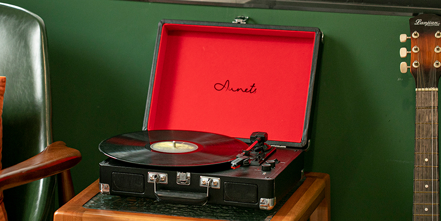 AUNETS手提箱式黑胶唱片机