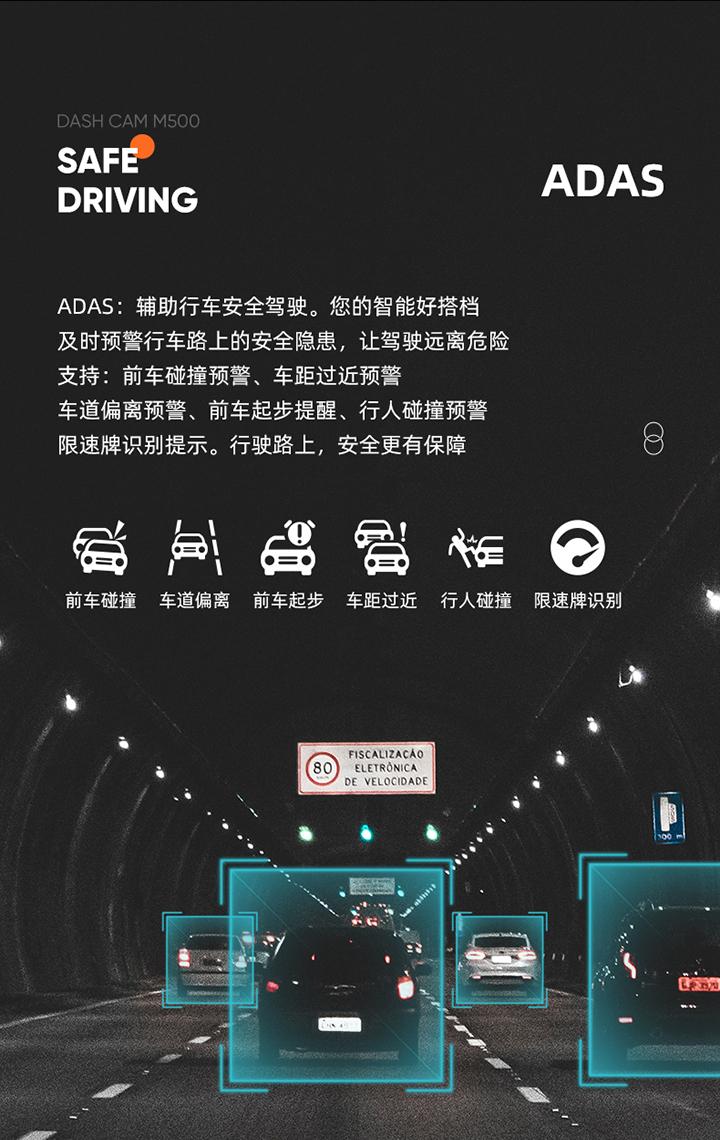 70迈智能行车记录仪 M500免费试用,评测