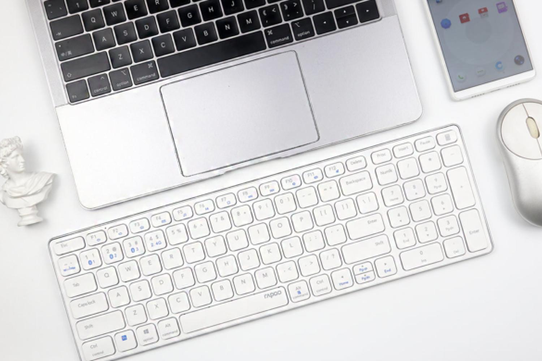 纤薄刀锋 多模好用:雷柏E9350G多模刀锋键盘